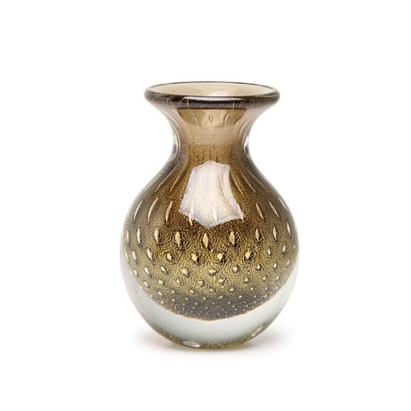 Handmade Bolla Fume Glass Luxury Vase