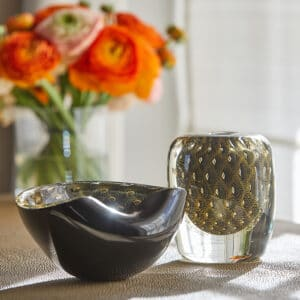 Ballo Fume Oval Vase