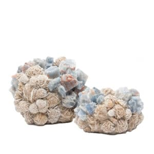 Luxury Blue Calcite and Desert Rose Votive candle holder