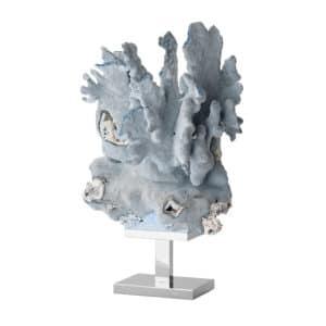 natural blue coral sculpture