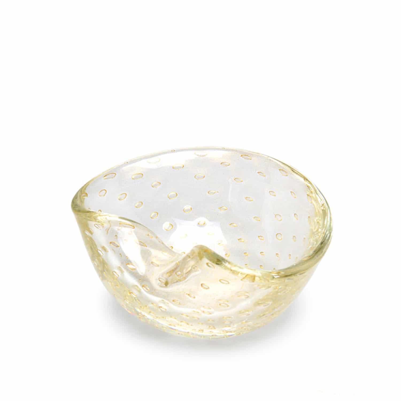 Luxury Gold Handblown Glass Bowl