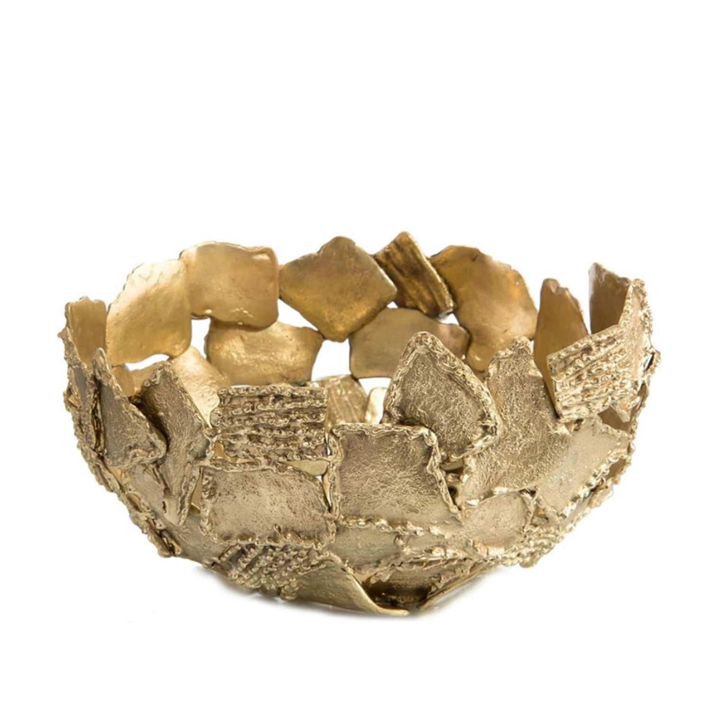 Brass Organic Textured Bowl