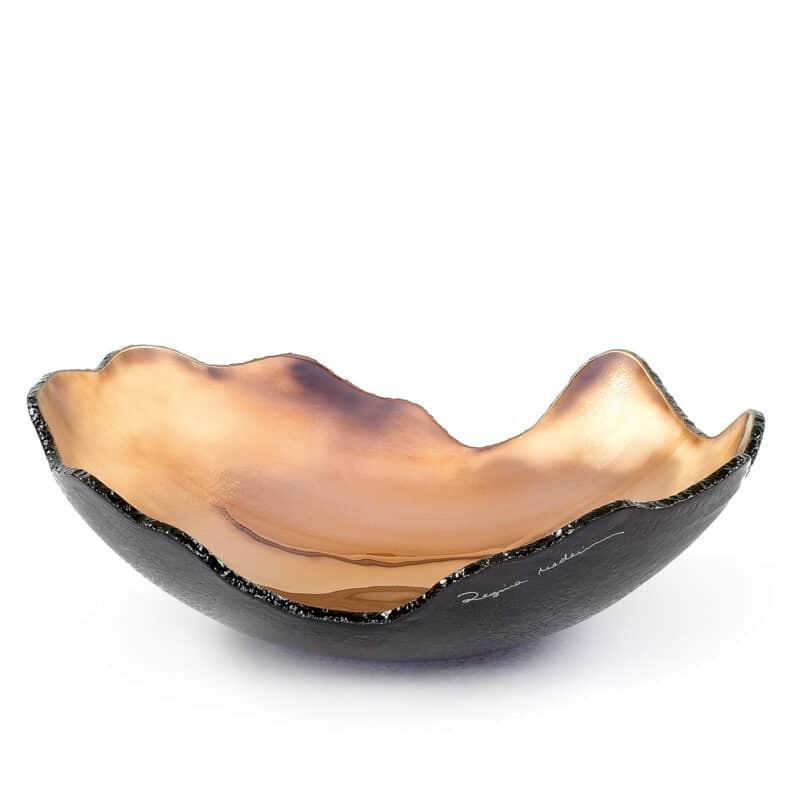 Bronze Organic Glass Bowl with Bronze Hue