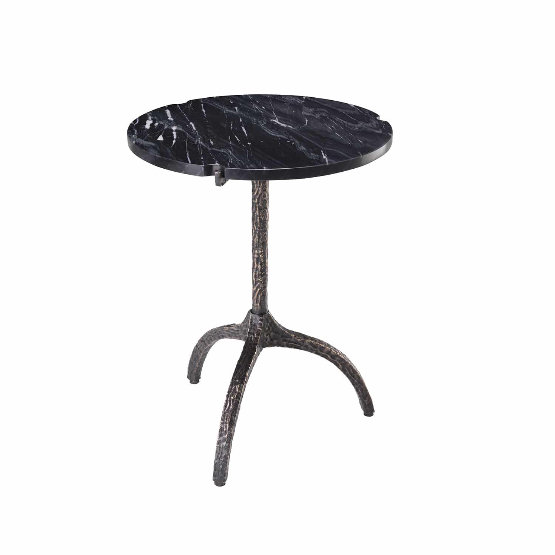Luxury Hand-Cast Sculptural Bronze Side Table
