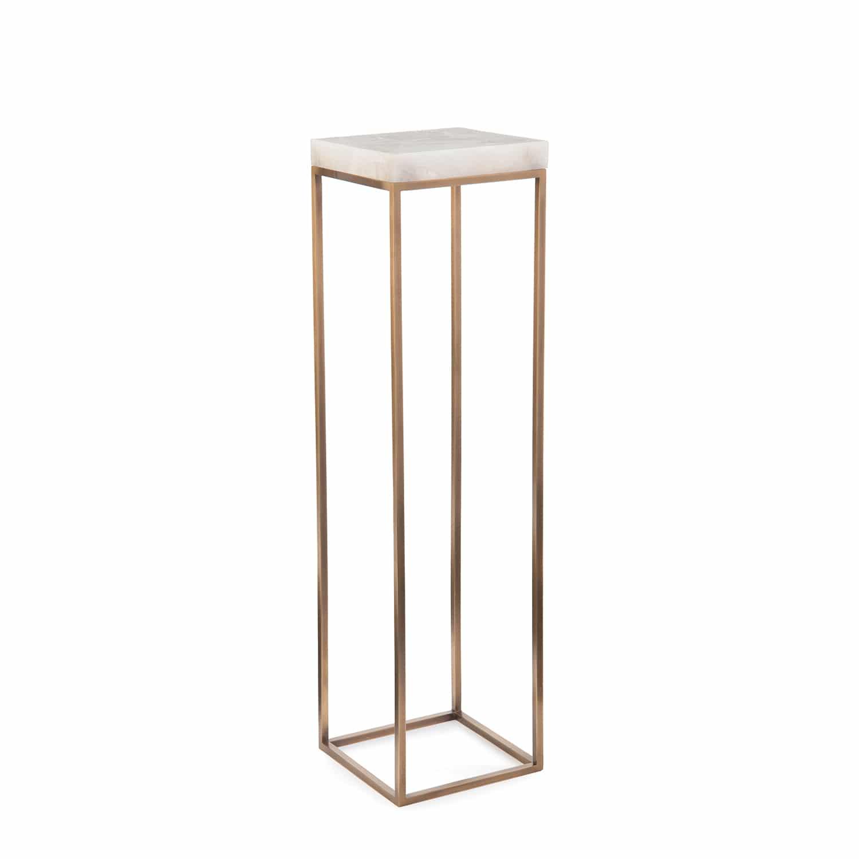 Designer Calcite & Brass Sculpture Stand