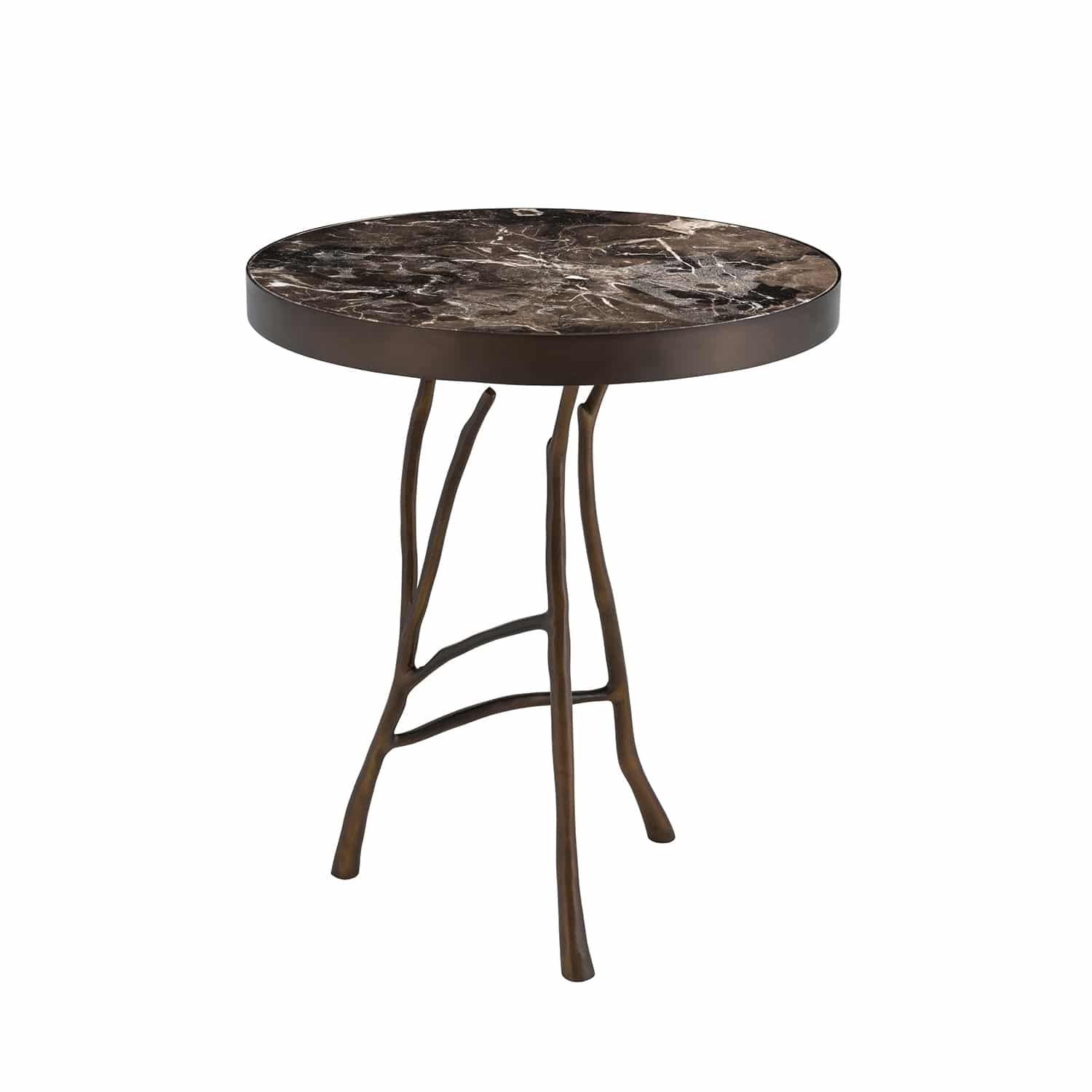 Luxury Polished Marble Side Table