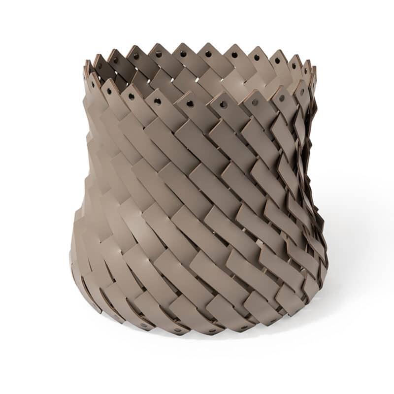 Cora Tall Handmade Leather Basket
