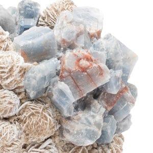 Blue Calcite and Desert Rose Votive