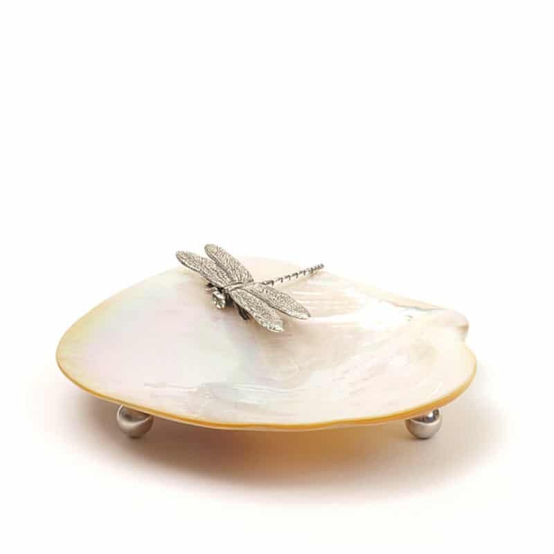Dragonfly Mother of Pearl Plate