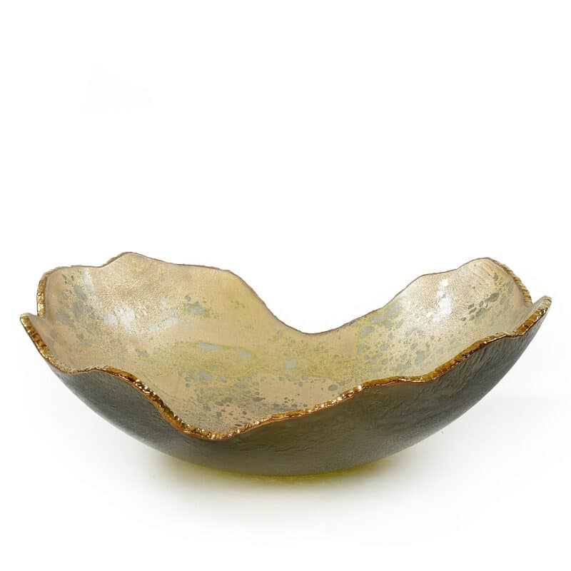 Gold Organic Bowl With Silver Hue