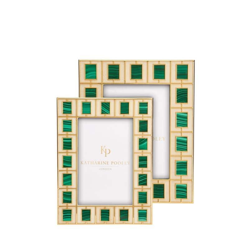 Designer Malachite Tile Frame