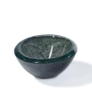 Designer Large Glass decorative Bowl with Metal Leaf