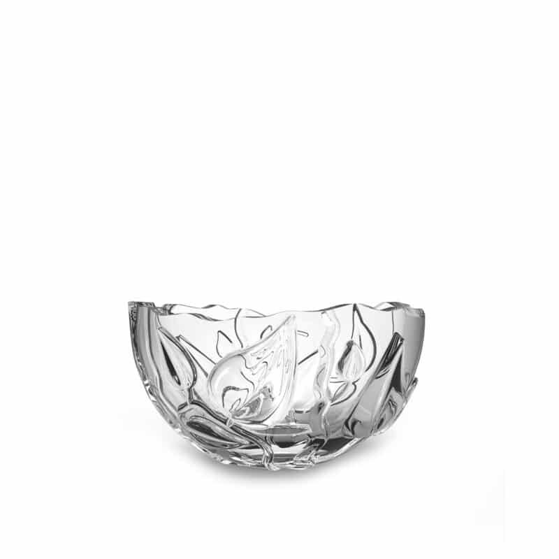 Designer crystal serving bowl