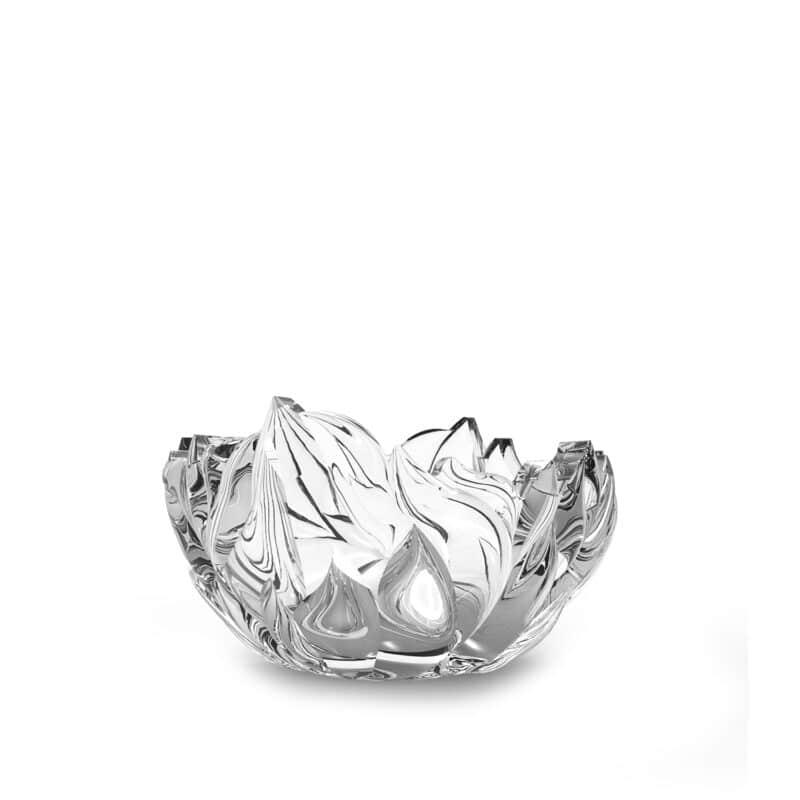 luxury crystal serving bowl