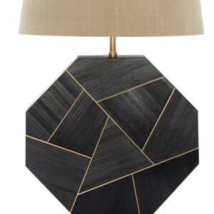 Octavius Straw Marquetry Lamp