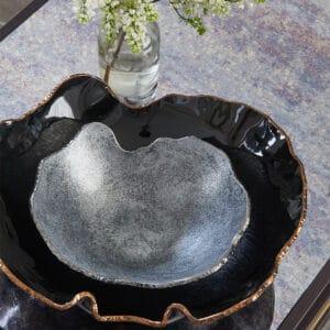 Silver Organic Bowl