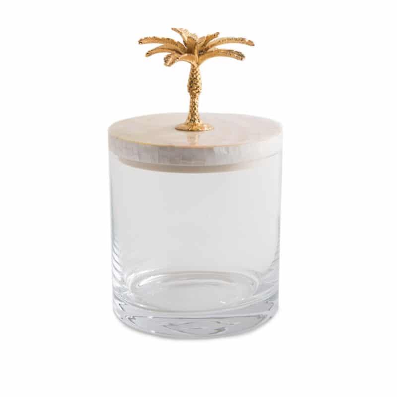 Gold storage jar for bathrooms