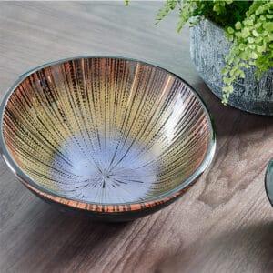 Sandrino Bronze Glass Bowl