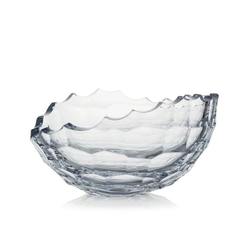 Designer Hand-cut Polished Crystal Bowl