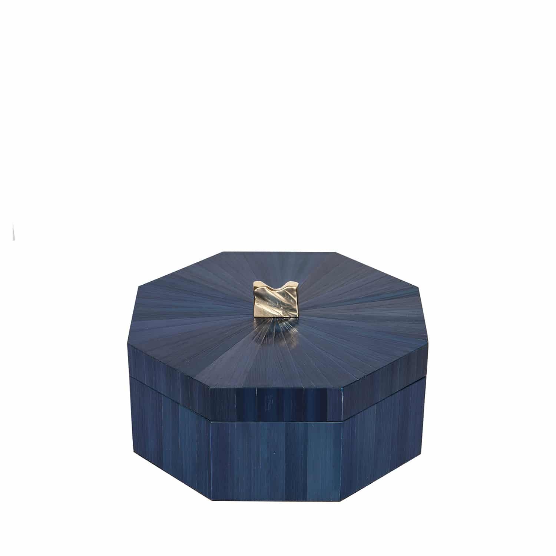 Ultramarine Straw Marquetry Box