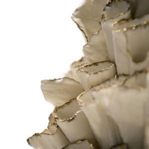 Vespula Gold Porcelain Scultpure