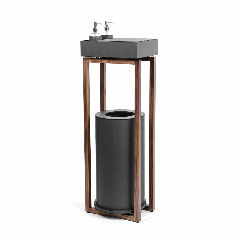 Luxury Walnut Wood Hand Sanitiser Stand